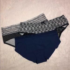 NWT Victoria's Secret Lot of 3 Hiphugger Underwear